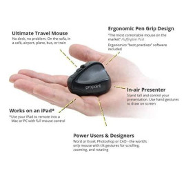 Propoint Wireless Bluetooth Mouse And Presenter, Ergonomic Pen Grip, Perfect For Travel, Ipad Compatibility Via Remote Desktop, 1800Dpi By Swiftpoint