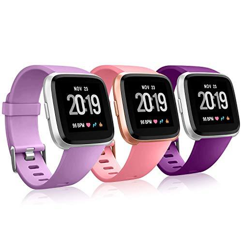 Creategreat Bands Compatible With Fitbit Versa, Silicone Adjustable Replacement Wristband For Fitbit Versa Smart Watch Heart Rate Fitness Wristband Small Large