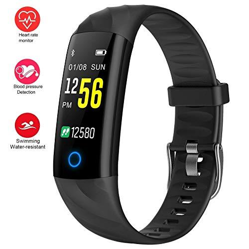 Fitness Trackers,Heart Rate Monitor Smartwatch With Aerobic Exercise Indicator,120 Feet Waterproof Pedometer Calorie Counter Smart Sport Bracelet,Smart Wristband Watch With Sleep Monitor