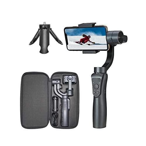 Stablei 3-Axis Handheld Gyro Gimbal Video Vlog Stabilizer For Iphone & Android Smartphone W/Face Tracking/Zoom Control
