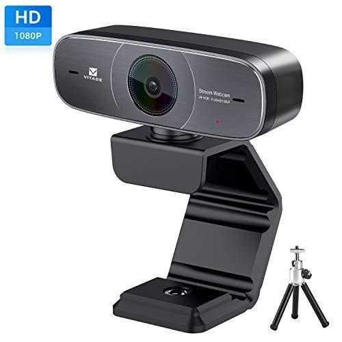 Mac Webcam, Hd 1080P Webcam With Microphone For Streaming, 925A Hdr Usb Computer Web Camera Pro Video Cam For Mac Pc Windows Skype Obs Twitch Youtube Xsplit Xbox One -Tripod Included