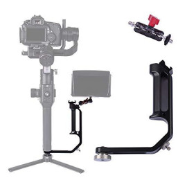 Df Digitalfoto Universal L Bracket Handle Gimbal Accessories,Mounting Monitor/Microphone With Bean Grip Compatible With Dji Ronin S/Sc,Zhiyun Crane V2/M/2,Moza Air 2,Feiyutech Ak2000/4000 Etc