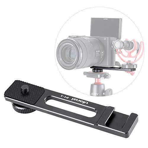 "Pt-5 Camera Bracket For A6400 To Attach Microphone Cold Shoe Extension Mount 1/4"" Compatible With Sony Alpha A6400 Mirrorless Digital Camera Canon G7 X Plate Filming Selfie Video Shooting Vlogging"