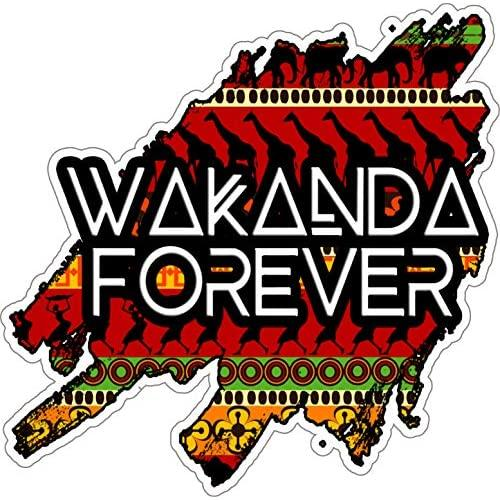 """Wakanda Forever Text 5"""" X 5"""" - Car, Laptop Decal, Window, Car Bodies,Motorcycles Helmets Boats, Mailboxes, Laptops, Skateboard, Guitars, Trailers"""