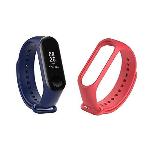 Un-Tech Fitness M3 Wristband Heart Rate Band Activity Tracker For Android Ios (Blue) Strap Band Belt (Red)