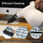 Compucleaner 2.0 -Durable Abs Plastic Electric High Pressure Air Duster - Computer Cleaner Blower - Keyboard Cleaner - Electronic Devices And Laptop Cleaner - Replaces Compressed Air Cans-White