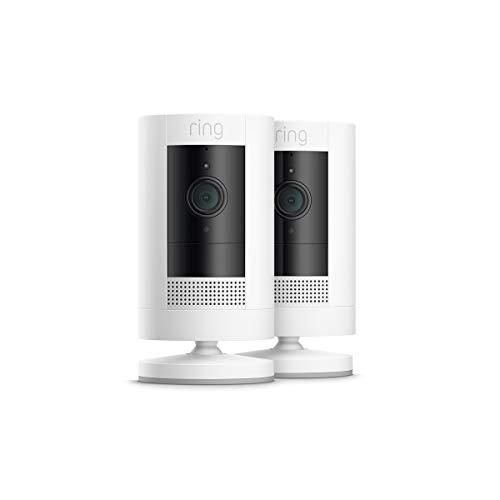 All-New Ring Stick Up Cam Battery Hd Security Camera With Two-Way Talk, Works With Alexa - 2-Pack