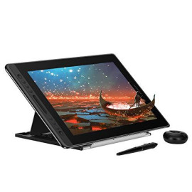 Huion Kamvas Pro 16 Drawing Tablet Monitor 2019 Full-Laminated Pen Display Tilt Battery-Free Stylus With Adjustable Stand- 15.6 Inches