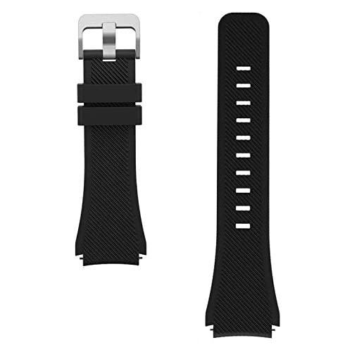 Wayland Replacement Smart Watch Band 22Mm For Michael Kors Access Bradshaw Smart Watch 22Mm Classic Silicone Band Strap For Mkt5001/5004/5013 - Black