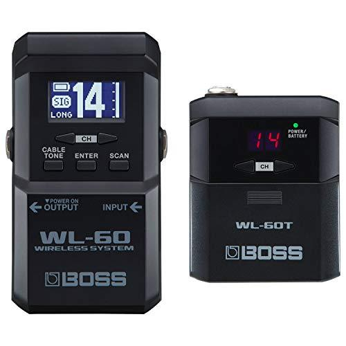 Boss Wireless Guitar System With Bodypack Transmitter And Stompbox-Size Receiver (Wl-60)