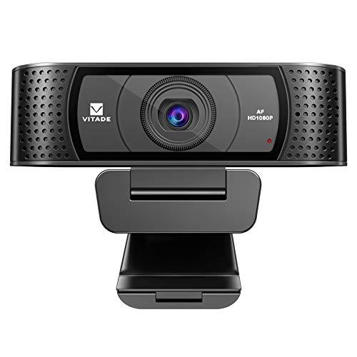 Hd Webcam 1080P With Microphone &Amp; Cover Slide, Vitade 928A Pro Usb Computer Web Camera Video Cam For Streaming Gaming Conferencing Mac Windows Pc Laptop Desktop Xbox Skype Obs Twitch Youtube Xsplit