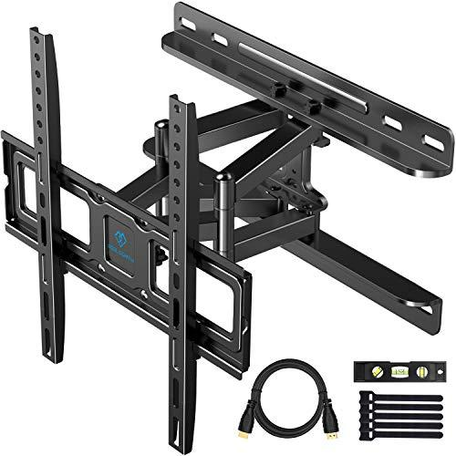 Perlesmith Tv Wall Mount Full Motion For Most 32-55 Inch Tvs With Swivel &Amp; Extends 16.53 Inch - Dual 6 Arms Wall Mount Tv Bracket Vesa 400X400 Fits Led, Lcd, Oled Flat Screen Tvs Up To 99 Lbs