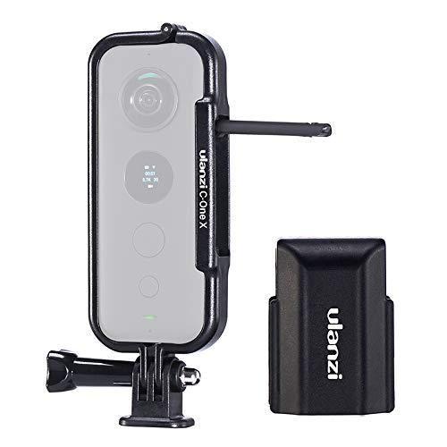 Ulanzi Housing Case For Insta360 One X Action Cameras, Protective Frame With Lens Cover, Universal Action Camera Mount W 1/4 Thread
