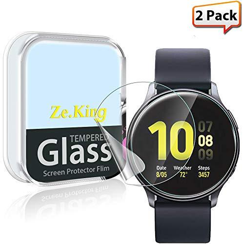 Zeking [2-Pack] Samsung Galaxy Watch Active 2 (40Mm) Smartwatch Screen Protector [Full Coverage] Hd Clear [Anti Scratch] Bubble-Free Flexible Tpu Film