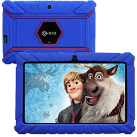 """Contixo V8-2 7"""" Edition Android 16Gb Kids Tablet Parental Control 20 Learning Education Apps On Google Certified Playstore Toy Tablet For Kids, Kids- Proof, Wifi Camera Best Gift (Dark Blue)"""