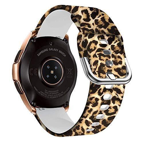Fitli Bands Compatible With Galaxy Watch Active 2 40Mm / 44Mm, Gear S2 Classic, Galaxy Watch 42Mm, 20Mm Quick Release Watch Bands Compatible With Galaxy Watch Active 40Mm, Leopard Print