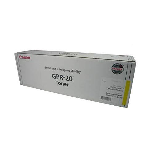 Canon Cnmgpr20Y Toner Cartridge, Yellow, Laser, 36000 Page, 1 Each