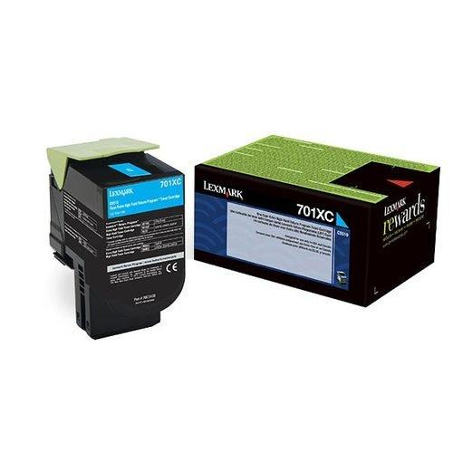 Lexmark 70C1Xc0 Extra High-Yield Toner, 4000 Page-Yield, Cyan