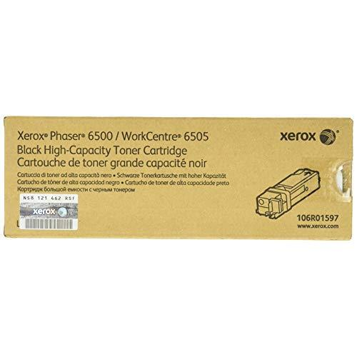 Xerox 106R01597, Phaser High Capacity Toner Cartridge, 3000 Page Yield, Black