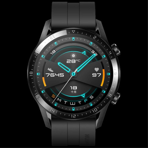 [Huawei Brazil Cross-Border Products Cannot Be Sold Without Permission] [Global Version] Huawei Watch Gt 2 Black_32Mb + 4Gb