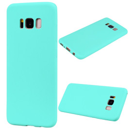 For Samsung S8 Plus Lovely Candy Color Matte Tpu Anti-Scratch Non-Slip Protective Cover Back Case Light Blue