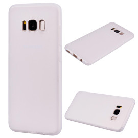 For Samsung S8 Plus Lovely Candy Color Matte Tpu Anti-Scratch Non-Slip Protective Cover Back Case White