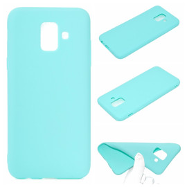 For Samsung A6 2018 Lovely Candy Color Matte Tpu Anti-Scratch Non-Slip Protective Cover Back Case Light Blue