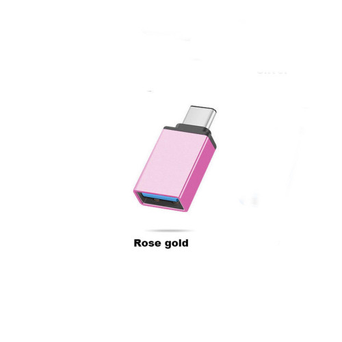 Usb-C Type C 3.1 Male To Usb 3.0 Type A Female Adapter Sync Data Hub Otg Rose Gold
