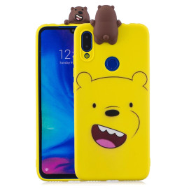 For Redmi Note 7 3D Cute Coloured Painted Animal Tpu Anti-Scratch Non-Slip Protective Cover Back Case Yellow