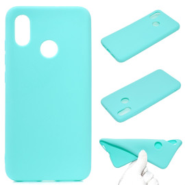 For Huawei Y6 2019 Lovely Candy Color Matte Tpu Anti-Scratch Non-Slip Protective Cover Back Case Light Blue