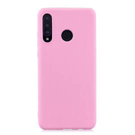 For Huawei P30 Lite/Nova 4E Lovely Candy Color Matte Tpu Anti-Scratch Non-Slip Protective Cover Back Case Dark Pink