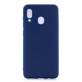 For Samsung A30 Lovely Candy Color Matte Tpu Anti-Scratch Non-Slip Protective Cover Back Case Navy