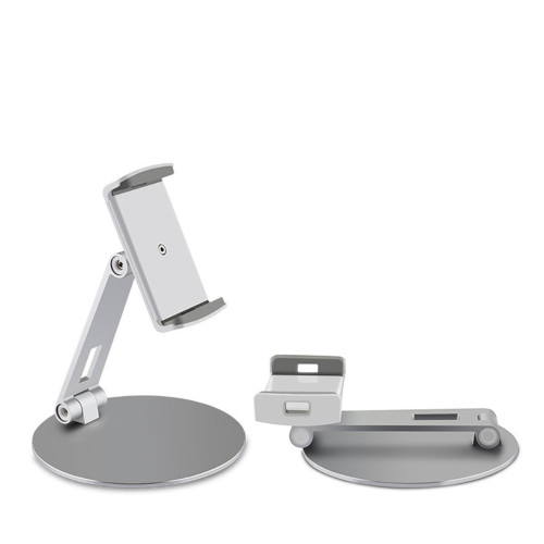 Mobile Phone Tablet Stand Desktop Aluminum Alloy Holder Adjustable Collapsible Phone Holder For 4-14 Inches Silver