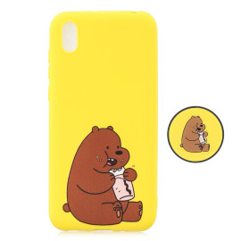 For Huawei Y5 2019 Lightweight Soft Tpu Phone Case Pure Color Phone Cover Cute Cartoon Phone Case With Matching Pattern Adjustable Bracket 8