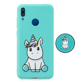 For Huawei Y7 2019 Flexible Stand Holder Case Soft Tpu Full Cover Case Phone Cover Cute Phone Case 5