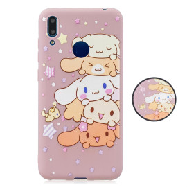 For Huawei Y7 2019 Flexible Stand Holder Case Soft Tpu Full Cover Case Phone Cover Cute Phone Case 1
