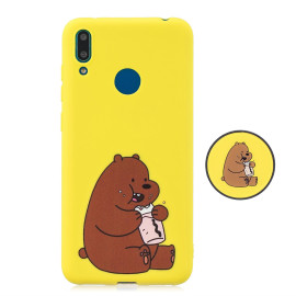 For Huawei Y7 2019 Flexible Stand Holder Case Soft Tpu Full Cover Case Phone Cover Cute Phone Case 8
