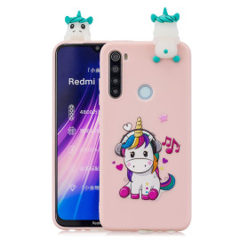 For Redmi Note 8T 3D Cartoon Painting Back Cover Soft Tpu Mobile Phone Case Shell Music Unicorn