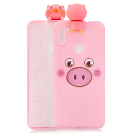 For Samsung A11 Tpu Back Cover 3D Cartoon Painting Soft Mobile Phone Case Shell Little Pink Pig