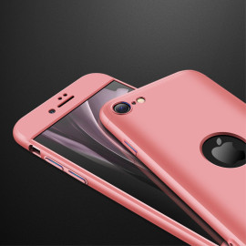 For Iphone Se 2020 360Dgree Full Protection Phone Case Protector Shockproof Pc Phone Back Cover Rose Gold