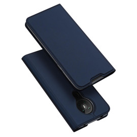 Dux Ducis For Nokia 5.3 Leather Mobile Phone Cover With Bracket Card Slot Magnetic Protective Case Blue