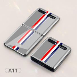 For Samsung Galaxy Z Flip Foldable Cellphone Shell Electroplated Painted Folding Phone Case A11