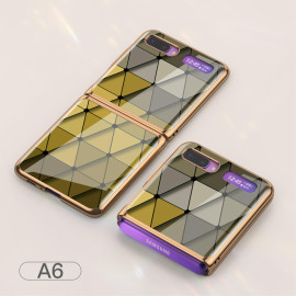 For Samsung Galaxy Z Flip Foldable Cellphone Shell Electroplated Painted Folding Phone Case A6