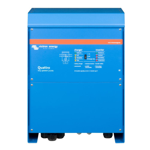 Victron Quattro Inverter/Charger 12 Vdc - 5000W - 200Amp Battery Charger - 50Amp Transfer Switch