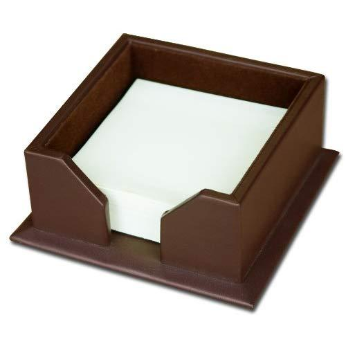Dacasso Chocolate Brown Leather 3-Inch Note Holder