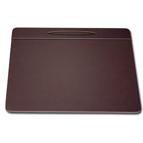 Dacasso Chocolate Brown Leather Conference Table Pad With Pen Well, 17 By 14-Inch