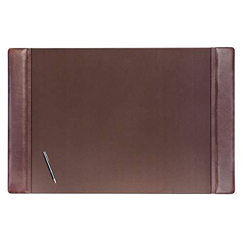 """Dacasso Chocolate Brown Leather 38"""" X 24"""" Desk Pad"""