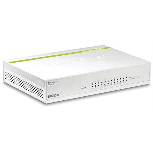 Trendnet 24-Port Gigabit Greennet Switch, Qos, 48 Gbps Switching Fabric, Fanless, Plug &Amp; Play, Half &Amp; Full Duplex, Teg-S24D