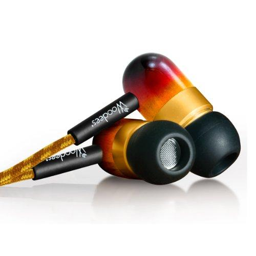 Woodees Iesw101V Vintage Noise Isolating Stereo Earphones