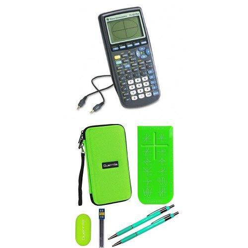 Texas Instruments Ti-83 Plus Graphing Calculator With Travel Case And Essential Graphing Accessory Bundle, Green